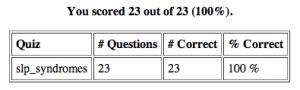 Screen Shot from SLP exam website