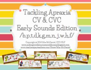 tackling apraxia CV & CVC Early sounds edition