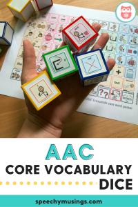 AAC core vocabulary dice