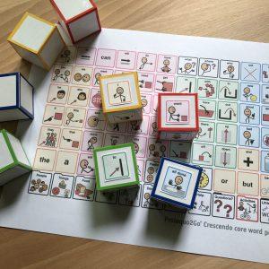 core vocabulary dice with core board