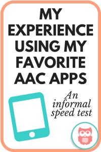 best aac app based on informal speed test trials