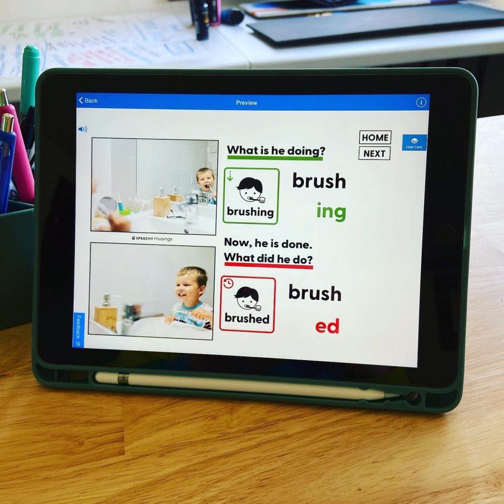 teaching regular past tense verbs digital materials